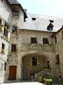 Medieval Village Square In France poster