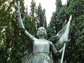 foto of poitiers  - Statue of Joan of Arc in Poitiers in France - JPG