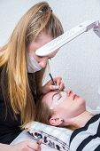 Artificial Eyelash Extensions From The Master Of Eyelash Extension In The Beauty Salon, Medical Twee poster