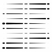 Segmented, Dashed Lines, Stripes Abstract Geometric Pattern. Irregular Straight Parallel Strips, Str poster