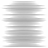 Random Lines Halftone Element. Random Horizontal Lines. Irregular Straight, Parallel Stripes. Strips poster