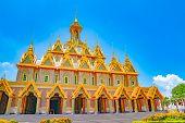 Golden Castle At Wat Thasung Or Wat Chantaram poster
