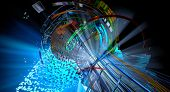 3D rendering of abstract technology digital hi tech concept ready for banner background poster