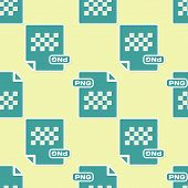 Green Png File Document. Download Png Button Icon Isolated Seamless Pattern On Yellow Background. Pn poster