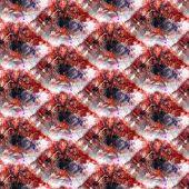 Seamless Tie-dye Pattern Of Orange And Blue Color On White Silk. Hand Painting Fabrics - Nodular Bat poster
