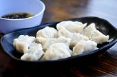 Chinese Dumpling, Dumpling Or Steamed Wonton With Sauce poster