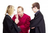 Three Jurists Debate About A Lawsuit
