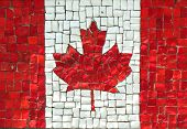 Canadian Flag in Mosaic