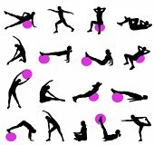 picture of pilates  - silhouettes of women doing pilates - JPG