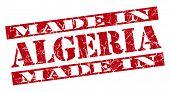 Постер, плакат: Made In Algeria Grunge Red Stamp