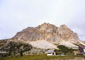 stock photo of piccolo  - View of Piccolo Lagazuoi from Passo Falzarego - JPG