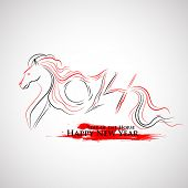 illustration of 2014 - Year of the Horse