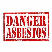 Danger Asbestos-stamp