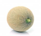 foto of ares  - Fresh ripe melon  fruit on white background - JPG