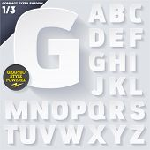 foto of alphabet  - Modern flat alphabet for infographics with long ambient shadow - JPG