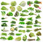 foto of sweet pea  - Vegetables collection isolated on over white background - JPG