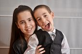 Постер, плакат: Bat Mitzvah Girl With Her Brother