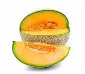 image of ares  - cantaloupe melon isolated on over white background - JPG