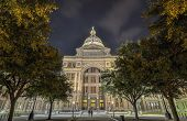 picture of granite dome  - The Texas State Capitol Building in downtown Austin at Night - JPG