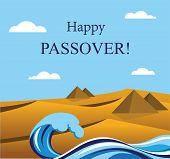 stock photo of matzah  - happy Passover - JPG