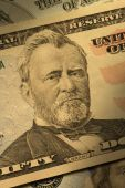 Close-up Of Ulysses S. Grant On The $50 Bill