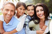pic of hispanic  - Portrait Of Hispanic Family In Countryside - JPG