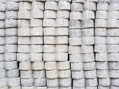 pic of stockade  - many concrete block for construction - JPG