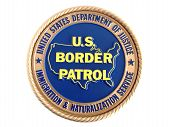 U.s. Border Patrol Emblem. Isolated On White Background.