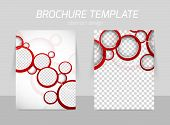 foto of red back  - Flyer back and front template design with red circles - JPG