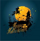 stock photo of happy halloween  - Halloween night - JPG