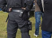 picture of anti-terrorism  - member of an arrest unit from behind - JPG