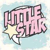 image of pop star  - little star pop art background illustration in vector format - JPG