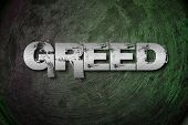 foto of greed  - Greed Concept text on background business idea - JPG
