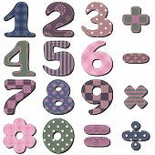 foto of poka dot  - scrapbook numbers and signs on white background vector illustration - JPG