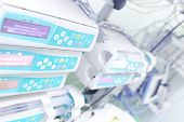 picture of cpr  - Medical electronic equipment in the hospital ward - JPG