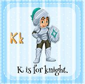 picture of letter k  - Illustration of a letter K is for knight - JPG