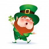 picture of presenter  - Leprechaun presenting - JPG