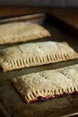 picture of fill  - Whole wheat toaster pastries lightly dusted with sugar crystals and filled with raspberry filling - JPG