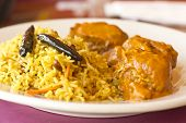 picture of tamarind  - Vegetarian Malai Kofta balls in gravy sauce with tamarind basmati rice - JPG