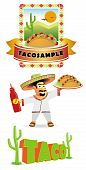picture of mexican food  - Vector set of mexican food - JPG
