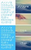 image of cleanse  - Cleanse Icons Set on blurred background  - JPG