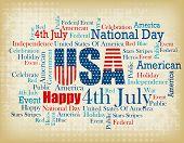 pic of patriot  - USA patriotic 4th of July word cloud  - JPG
