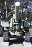 image of cannon  - old cannon of the period of 1942 in Sevastopol - JPG