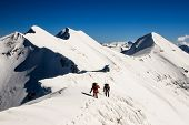 picture of avalanche  - People in the mountain - JPG