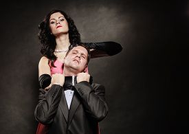 image of male-domination  - Woman in control of man sexy female controls her guy - JPG