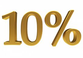 picture of tens  - Gold ten percent off - JPG