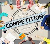 image of competition  - Competition Competitive Challenge Contest Race Concept - JPG