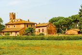 image of farm-house  - Old picturesque farm house by Via Appia in Rome Italy - JPG