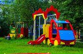 foto of playground school  - a playground for children in naturefamily - JPG