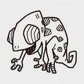 pic of chameleon  - Chameleon Doodle - JPG